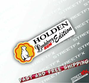 Rum Edition Sticker Decal for Holden 4x4 4WD Beer Ute Offroad for Commodore