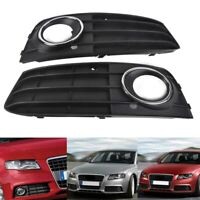 Pair Front Bumper Lower Fog Light Grille Grill Cover For Audi A4 A4L B8 09-2012