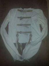 Asylum Strait Jacket Straitjacket Straight  leather straps heavy canvas L Large