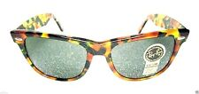 "RAY-BAN *NOS VINTAGE B&L Ltd. WAYFARER II W1447 ""Green Tortoise"" *NEW SUNGLASSES"