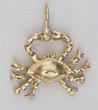 CRAB PENDANT Cancer Horoscope Astrological Sign 24k Yellow Gold Plated