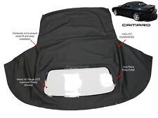 Chevrolet Camaro 1994-02 Convertible Soft Top & Plastic Window Black Sailcloth