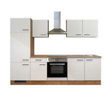 Küchenzeile Küchenblock Einbauküche Elektro-Geräte 270 cm creme matt beige