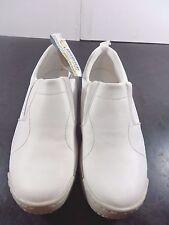 Skidbuster Athletic Slip On Shoes Men 7 W Slip Resistant White