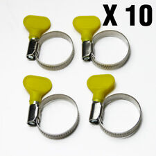 "Pond Hose Clips 3/4"" x 10 - Stainless Steel Yellow 20mm-32mm, Koi Filter, 0.75"""