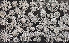 76 pcs Mixed Sliver Rhinestone Crystal Button Brooch Wedding Bouquet DIY Kit Lot