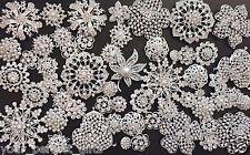 76 pcs Mixed Sliver Rhinestone Crystal Button Brooch Wedding Bouquet DIY Kit Lot