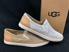 Ugg Australia Adley Perf Stardust Gold Silver 1019611 Slip On Fashion Sneakers