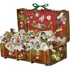 Christmas Treasure Chest Vintage Suitcase Advent Calendar - 55cm