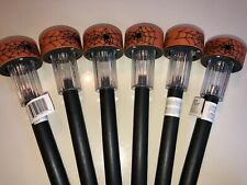 Halloween Set of 6 Spider Web Solar Powered Stake Lights Outdoor Home Decor