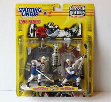 1998 Starting Lineup Classic Doubles Gretzky & Messier '87-'88 Oilers w/ Cup