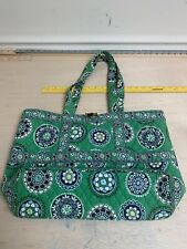 Vera Bradley Medium Green Cupcake Tote Bag Very Nice Clean Condition