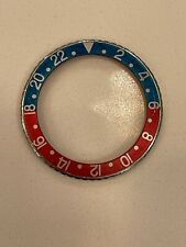 Genuine Vintage Rolex 1675 GMT Red Back Insert and Steel Bezel.