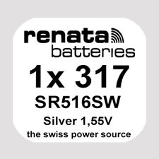 1x Renata 317 Uhren-Batterie Knopfzelle SR516SW 1,55V Silberoxid Neu
