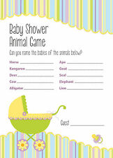 Baby Shower Game - Animal Game