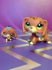 Hasbro Littlest Pet Shop LPS RARE #3601 3602 DACHSHUND Dog Puppy 100% Authentic