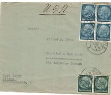 Germany 402 - 403 - President Von Hindenberg. Cover. Used.  #02 GERM402