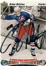 Brian Rolston 91-92 UD Hand Signed Card Boston Bruins Minnesota Wild Devils