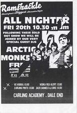 Arctic Monkeys Carling Acdemy Birmingham Flyer