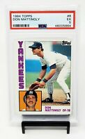 1984 Topps NY Yankees Star DON MATTINGLY Rookie Baseball Card PSA 5 EXCELLENT