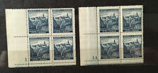 Bohemia & Moravia 1942, 40h Stamps With Coupons & Plate no. 1;2A (2&4 Blocks).