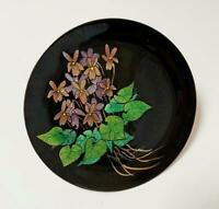 SIGNED DEBBIE SHEEZEL ENAMEL ON COPPER FLOWER PLATE AUSTRALIAN ARTIST ARTWORK