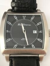 Ben Sherman Gents Retro Style Watch Large Square Case Dark Grey Dial Black Strap