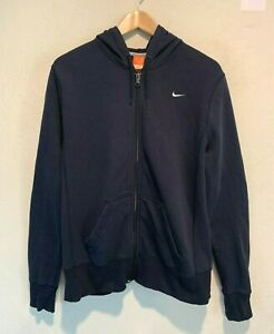 Vintage Nike Mini Swoosh Hoodie Jacket Fits Size Large Blue Athletic Department