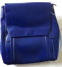 Nuevo coofit Azul para Mujeres Imitación de Cuero Bolso Mochila Mochila Ladies Ver Fotos