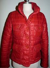 Red Denny Rose Bubble Coat Made In Italy Sz LARGE