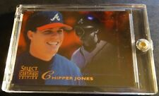 1996 CHIPPER JONES SELECT CERTIFIED MIRROR RED #142  90 MADE (227)