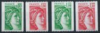 FRANCE 1978 SG2235-2238,2239 Sabine Coil Stamp Issue Set Mint MNH