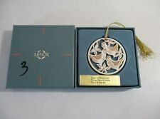 Lenox 12 Days Of Christmas Three French Hens Ornament In Box
