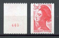 TIMBRE FRANCE NEUF N° 2277a ** GANDON LIBERTE ROULETTE