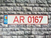 Romania Provisional License Plate Pre Euro Arad County #5