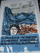 YOUNG REBEL Cuban Silkscreen Poster for 1960s Cuba Propaganda Movie FIDEL CASTRO