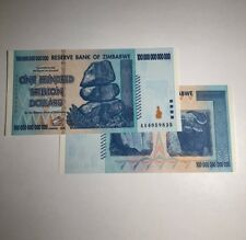 SALE! 100 TRILLION ZIMBABWE DOLLARS UNCIRCULATED NOTE 100 TRILLION NOTE 2008 AA
