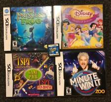 5 Nintendo DS Video Games Disney Princess I Spy Minute to Win It Club Penguin