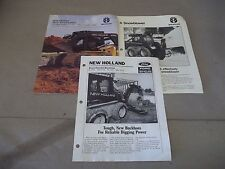 Ford New Holland  Skid Steer Sales Brochure plus SnowBlower Backhoes  LX465 B104