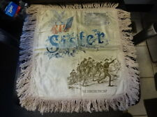 Old Vtg WW1 Military Silk Pillowcase Sister Soldiers Marching Design USA Flag