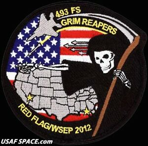 USAF 493rd FIGHTER SQ -RED FLAG 2012 & WSEP 2012- RAF Lakenheath -ORIGINAL PATCH