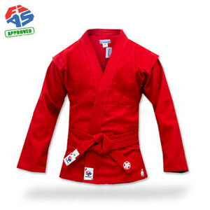 Krepysh new russian combat sambo jacket (judo, mma) FIAS approved color red