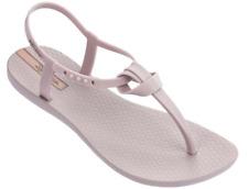 Ipanema Women`s Flip Flops Ellie Sandal Beige Brazilian T-Strap Sandals NWT