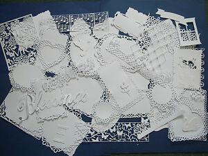 Large amount of mixed shaped die cuts  WHITE