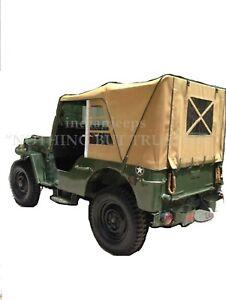 STITCHED CANVAS SOFT TOP FOR JEEP WILLYS CJ2A CJ3A 1947-1953 BLACK,KHAKI & BROWN
