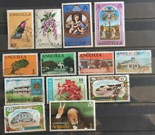 Anguilla 1966-76 small selection 13v used(10)  mh(3)