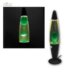 LAVALAMPE Lampe Leuchte Licht Metallfuß, grünes Wachs, 40cm inkl Leuchtmittel