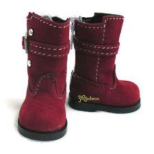 Yo-SD 1/6 bjd Dollfie Leeke Doll Shoes Velvet Buckle Boots Red ~ SHIP WORLDWIDE