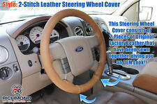 2005 Ford F-150 King Ranch F150 -Leather Steering Wheel Cover , 2-Stitch Style