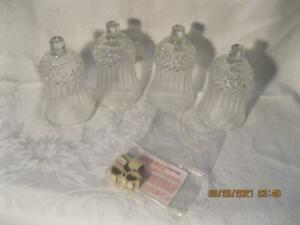 Home Interiors Homco 4 Votive/Candle Holders W/Grommets Cathedral Diamond New IB